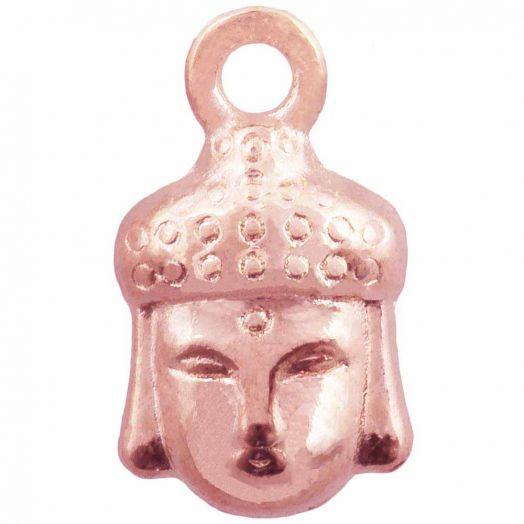 Bedel Buddha (14 x 8 mm) Rose Goud (25 Stuks)