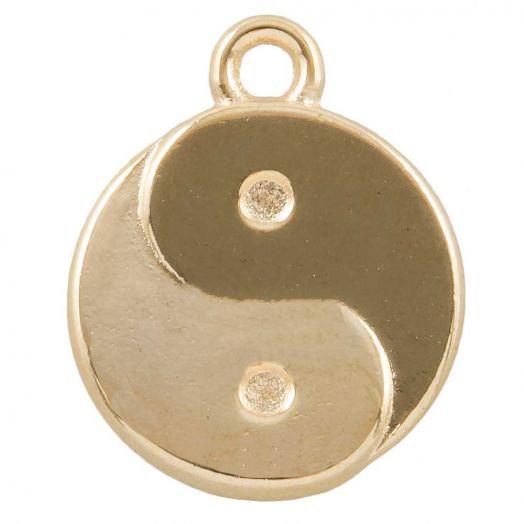 Bedel Ying Yang (17 x 13 mm) Goud (25 Stuks)