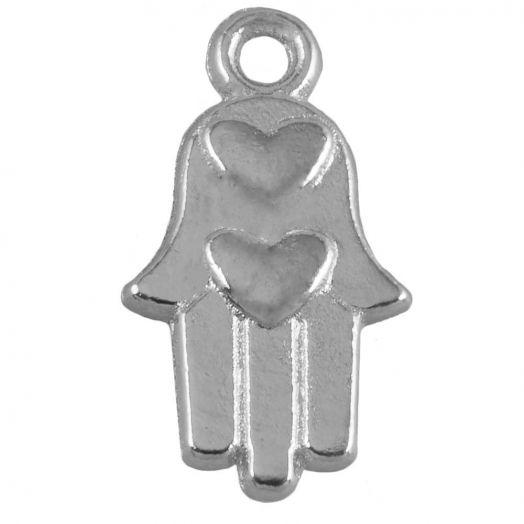 Bedel Hamsa (15 x 9 mm) Antiek Zilver (25 Stuks)