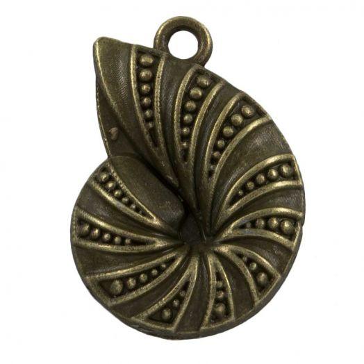 Bedel Schelp (23 x17 mm) Brons (25 Stuks)