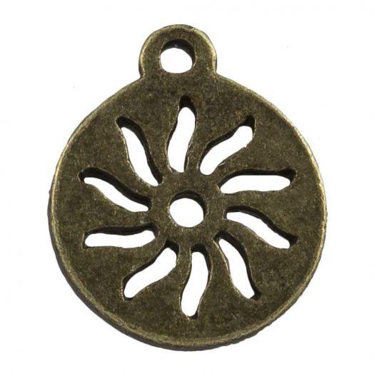 Bedel Zon (12 mm) Brons (25 Stuks)