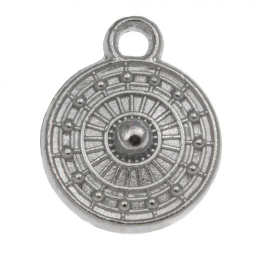 Bedel (9 x 11 mm) Antiek Zilver (25 Stuks)