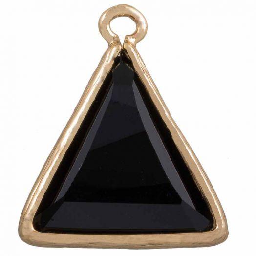 Triangel Bedel (21 x 18 mm) Black (2 Stuks)
