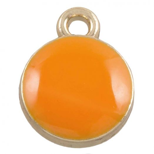 Bedel Enamel (11 x 9 mm) Orange (10 Stuks)