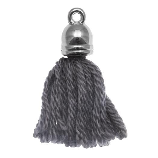 Kwastjes (20 mm) Porpoise Grey / Zilver (5 Stuks)
