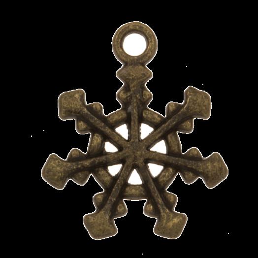 Bedel Sneeuwvlok (20 x 17 mm) Brons (10 Stuks)