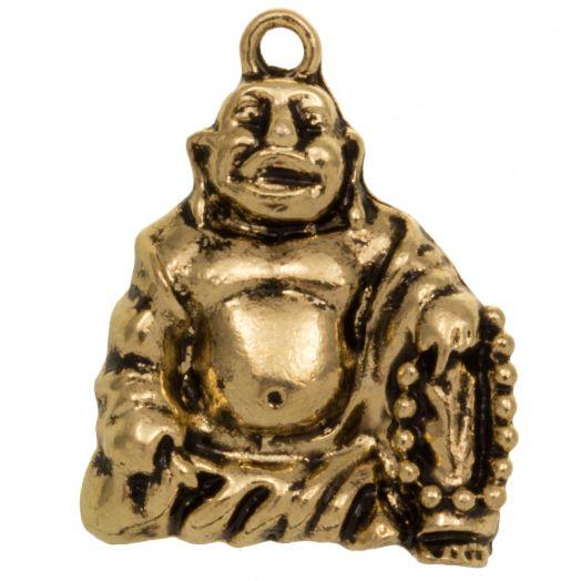 Bedel Buddha (28 x 22 mm) Goud (5 Stuks)