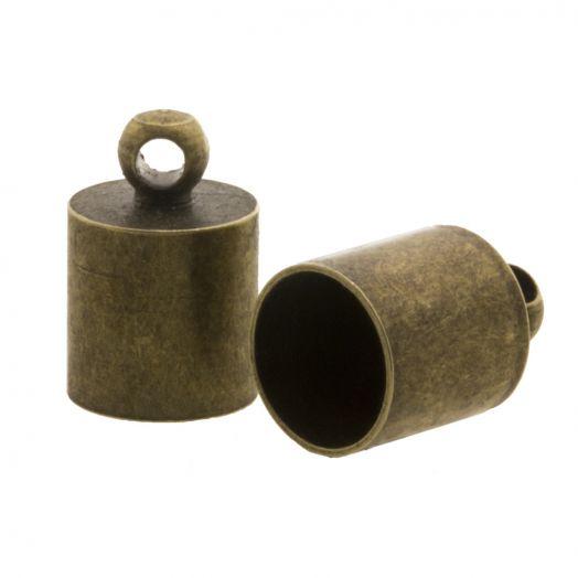 Eindkapje (Binnenmaat 8.5 mm) Brons (10 Stuks)