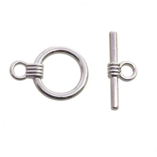 Kapitel sloten (13 mm buitenmaat en 10 mm binnemaat) Antiek Zilver (10 Stuks)