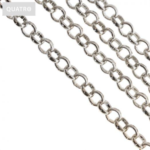Jasseron (4 mm) Antiek Zilver (2.5 Meter)