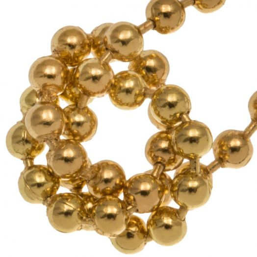 bolletjesketting goud