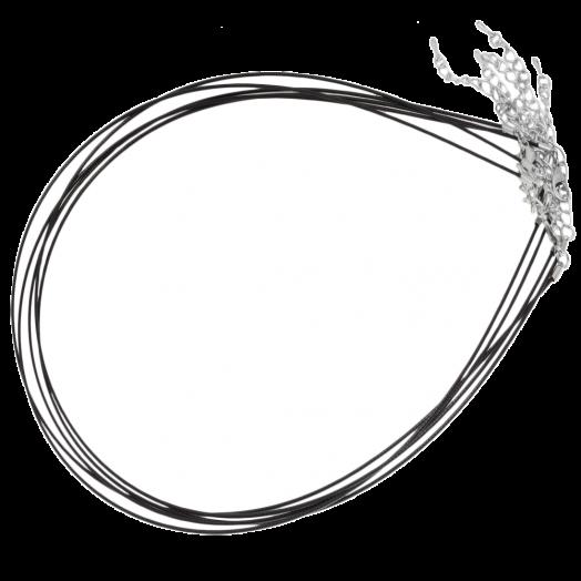 Halsketting met Verlengketting (48 cm) Black (5 Stuks)
