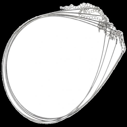 Halsketting met Verlengketting (48 cm) Zilver (5 Stuks)