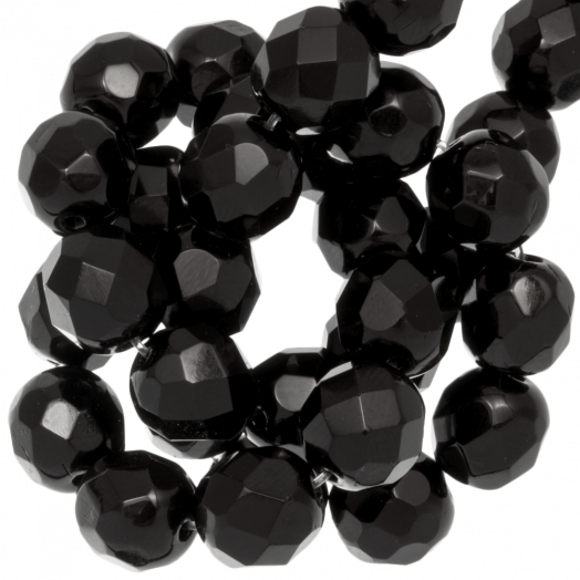DQ Facetkralen Rond (Black) 4 mm (100 Stuks)