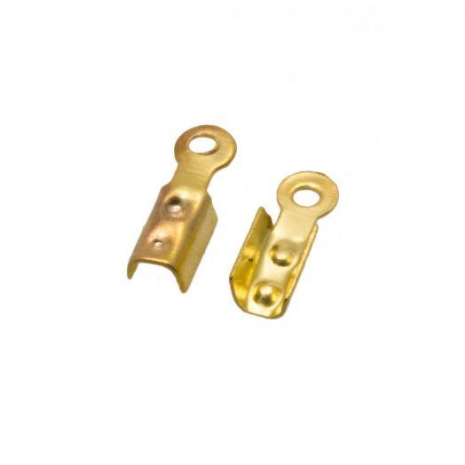 Veterklem Goud (8 x 2.5 x 2 mm Gat: 1.5 mm) 500 Stuks (Budget Verpakking)