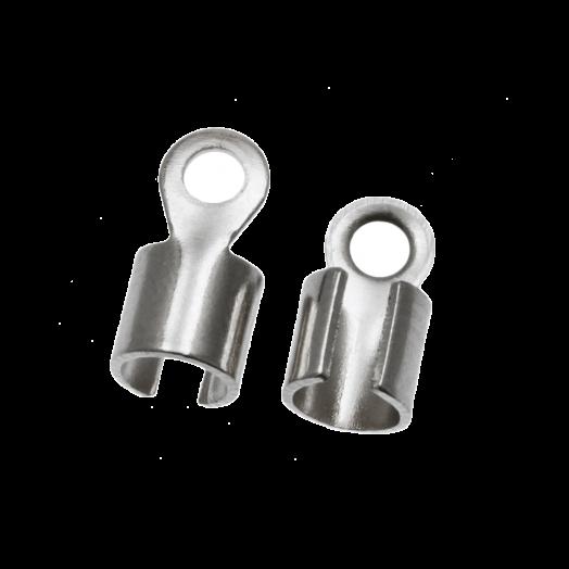 Veterklem (10 x 5 mm) Antiek Zilver (10 Stuks)