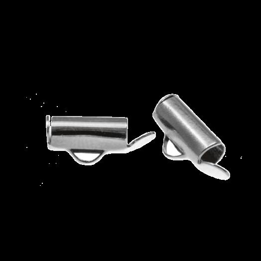 Eindkapje (10 mm) Antiek Zilver (10 Stuks)