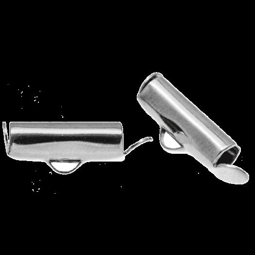 Eindkapje (13 mm) Antiek Zilver (10 Stuks)