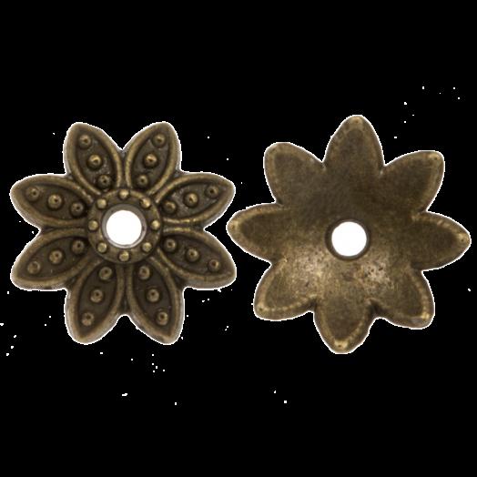 Beadcap (9 x 2 mm) 25 Stuks (Brons)