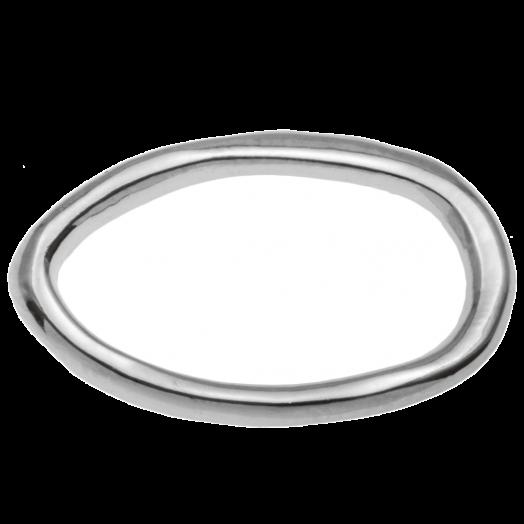 Gesloten Ringen (buitenmaat 22 x 14 mm binnenmaat 10 x 18 mm) Antiek Zilver (5 stuks)