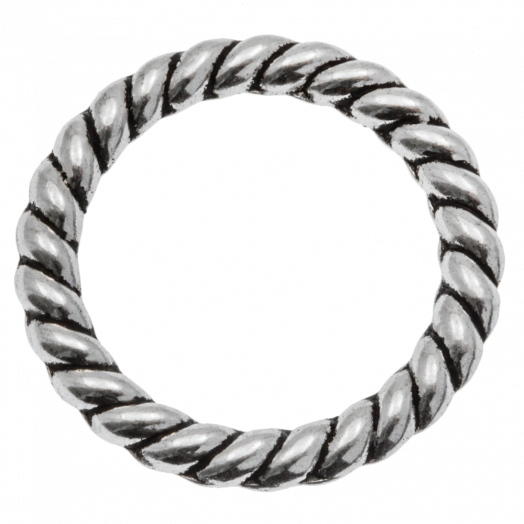 Gesloten Ringen (buitenmaat 23 x 2.5mm binnenmaat 17 mm) Antiek Zilver (10 stuks)