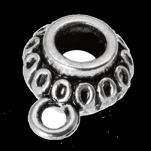 Tussenstuk 1 Oog (Binnenmaat 3.3 mm) Antiek Zilver (10 Stuks)