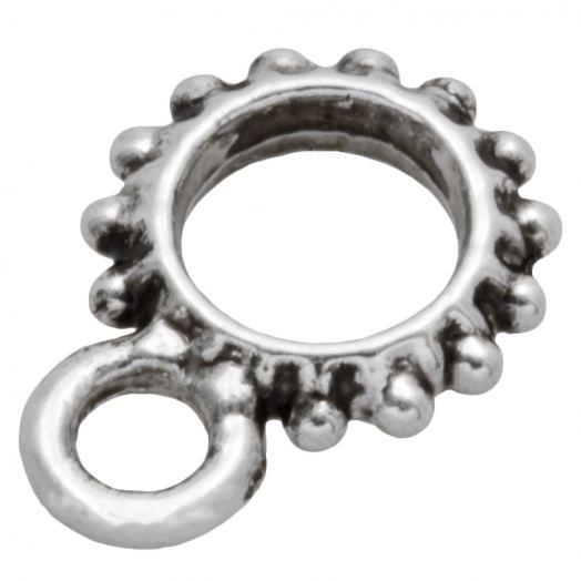 Tussenstuk 1 Oog (Binnenmaat 4.5 mm) Antiek Zilver (10 Stuks)