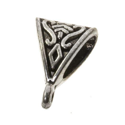 Tussenstuk 1 Oog (Binnenmaat 9 x 4 mm) Antiek Zilver (25 Stuks)