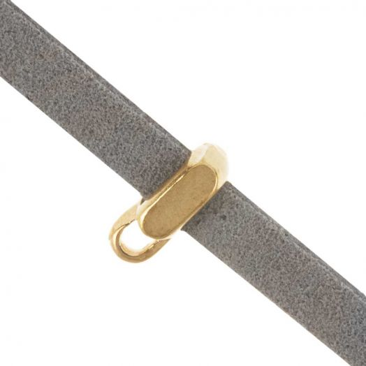 Rectangle Tussenstuk (Binnenmaat 5 x 2 mm) Goud (10 Stuks)