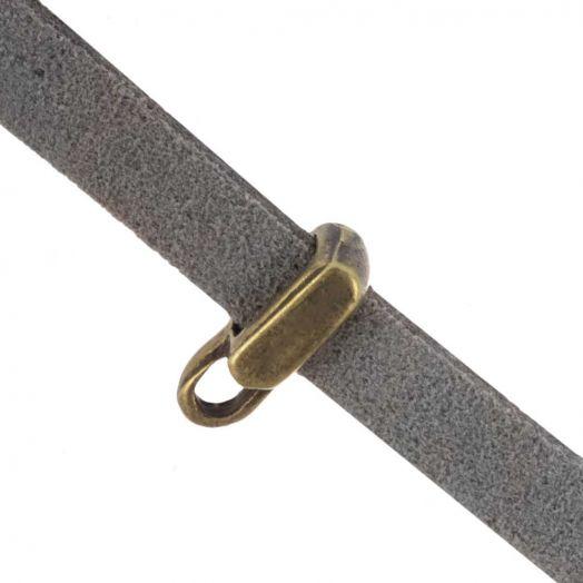 Rectangle Tussenstuk (Binnenmaat 10  x 2 mm) Brons (10 Stuks)