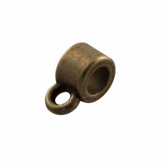 Tussenstuk 1 Oog (Binnenmaat 1 mm) Brons (10 Stuks)
