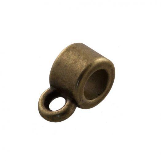 Tussenstuk 1 Oog (Binnenmaat 2 mm) Brons (10 Stuks)
