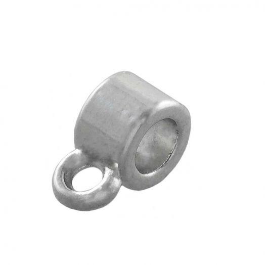 Tussenstuk 1 Oog (Binnenmaat 3 mm) Antiek Zilver (10 Stuks)