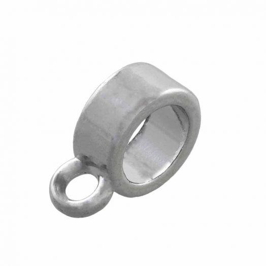 Tussenstuk 1 Oog (Binnenmaat 4 mm) Antiek Zilver (10 Stuks)