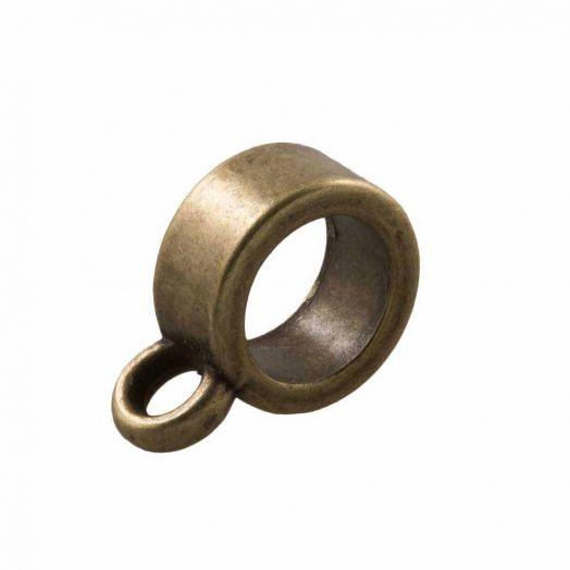 Tussenstuk 1 Oog (Binnenmaat 4 mm) Brons (10 Stuks)