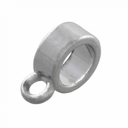 Tussenstuk 1 Oog (Binnenmaat 6 mm) Antiek Zilver (10 Stuks)