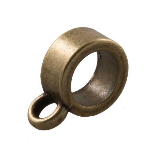 Tussenstuk 1 Oog (Binnenmaat 6 mm) Brons (10 Stuks)