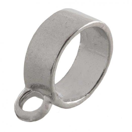 Tussenstuk 1 Oog (Binnenmaat 10 mm) Antiek Zilver (10 Stuks)