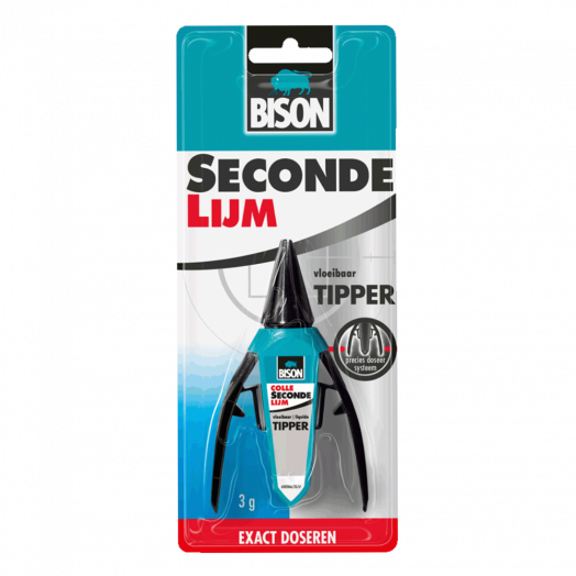 Secondelijm tipper (Bison) 3 gr