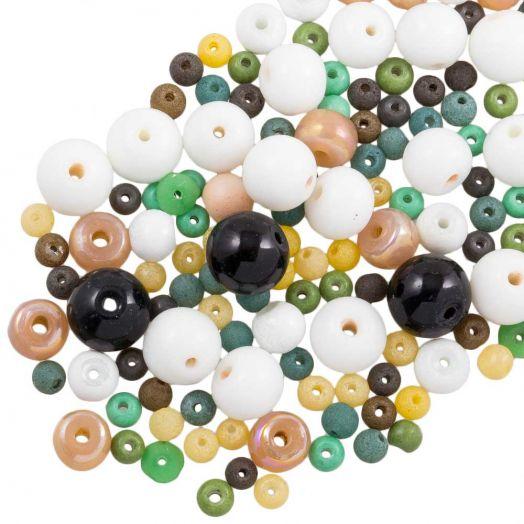 Voordeelpakket - glaskralen (Diverse maten) Mix Color (500 gram)
