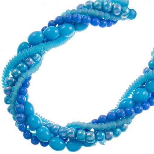 Voordeelpakket - glaskralen (Blue) 5 strengen