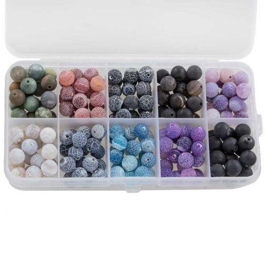 Voordeelpakket - Efflorescence kralen (8 mm) Mix Color (10 x 14 Stuks)