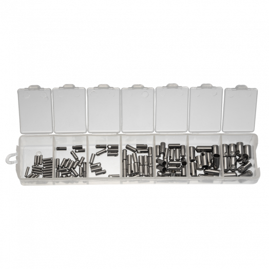 Voordeelpakket - Stainless Steel Eindkapje (1 tot 4 mm) Antiek Zilver (110 Stuks)
