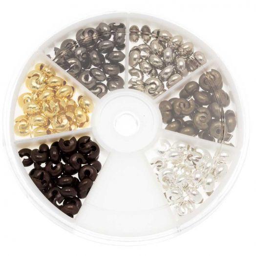 Voordeelpakket - Knijpkraalverbergers (5 mm) Mix Color (200 Stuks)