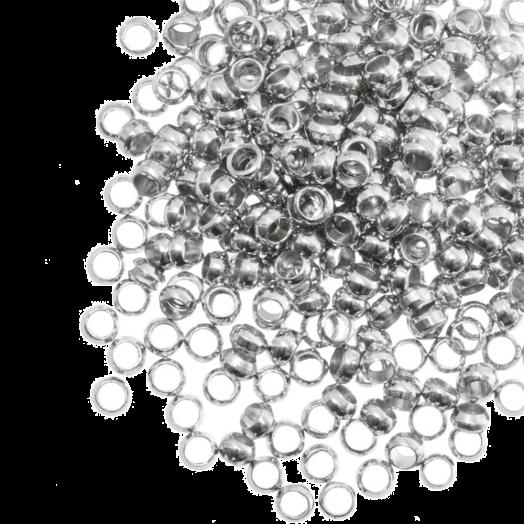 Knijpkralen (Binnenmaat 1.2 mm) Antiek Zilver (100 Stuks)