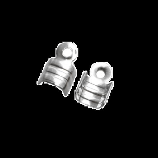Veterklem (voor 2 mm leer of 3 mm suede) Antiek Zilver (25 Stuks)