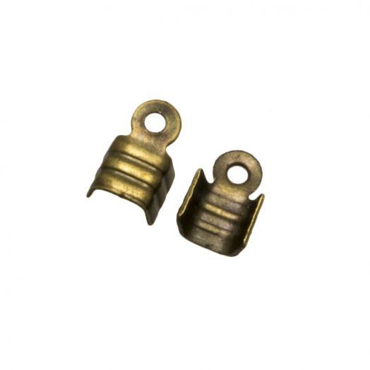Veterklem (voor 2 mm leer of 3 mm suede) Brons (25 Stuks)