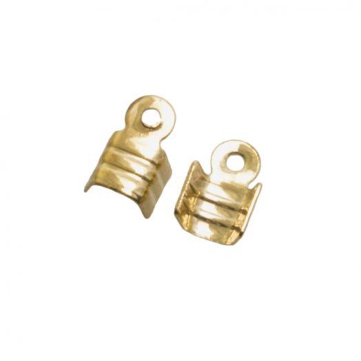 Veterklem (voor 2 mm leer of 3 mm suede) Goud (25 Stuks)