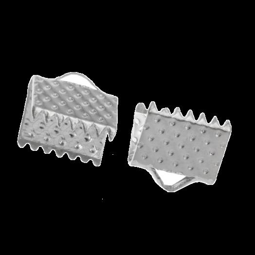 Lintklem (8 mm) Antiek Zilver (20 Stuks)