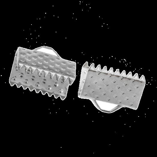 Lintklem (13 mm) Antiek Zilver (20 Stuks)